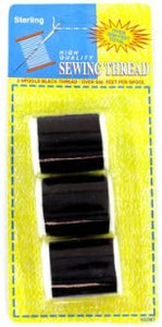 "Bulk Buys HC081-72 1-1/2"" Black Sewing Thread Set - Pack of 72"
