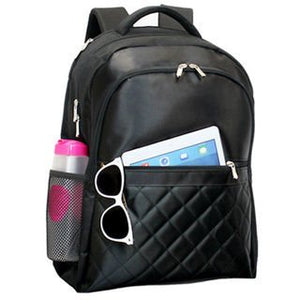 Backpack/ Bag, Black Savy Scan Express 17-inch Laptop and Tablet, Multi-Compartment Backpack, Made in Microfiber