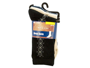 bulk buys Boys Large Argyle Dress Socks Set - Pack of 36