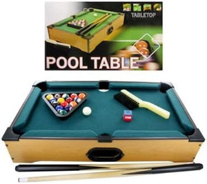 Tabletop Pool Table, Case of 2