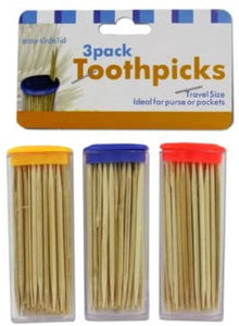 bulk buys Travel Size Toothpick Containers with Toothpicks - Pack of 36