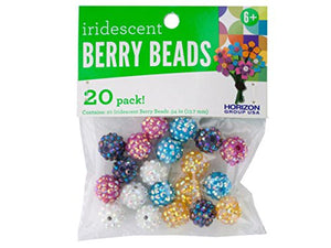 bulk buys Iridescent Berry Beads - Pack of 48