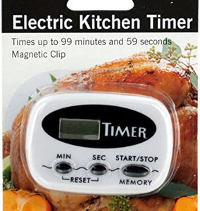 Electric Kitchen Timer With Magnetic Clip - Pack of 12