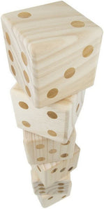 6 Giant Wooden Yard Dice Outdoor Lawn Game with Carrying Case