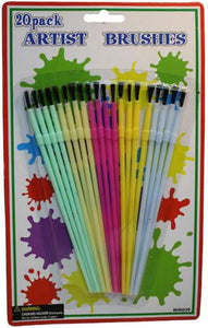"Bulk Buys MM039-48 6 1/4"" 20 Piece Artist Brushes - Pack of 48"