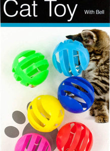 Balls with Bells Cat Toys Set - Pack of 12