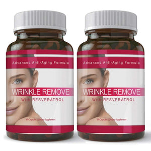Totally Products Wrinkle Remove Dietary Supplement with Resveratrol, Vitamin A-C-E, Green Tea, and Collagen 1 Bottle 1 Bottle