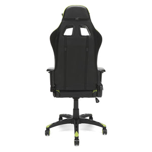 OFM Essentials Collection Racing Style Bonded Leather Gaming Chair, in Green