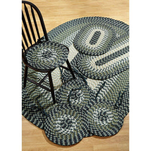 Better Trends Alpine7-Piece Braided Rugs Set, 50 by 80-Inch, Hunter