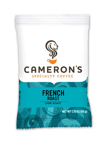 Cameron's Coffee Roasted Ground Coffee Bags, French Roast, 1.75 Ounce (Pack of 24)