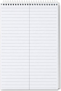 TOP80274 Spiral Steno Notebook, Gregg Rule, 6 x 9, Gray, 4 80-Sheet Pads/Pack