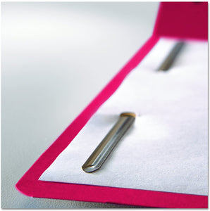 Smead Fastener File Folder, 2 Fasteners, Reinforced 1/3-Cut Tab, Letter Size, Red, 50 per Box (12740)