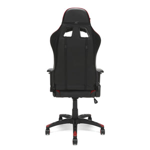 OFM Essentials Collection Racing Style Bonded Leather Gaming Chair, in Red