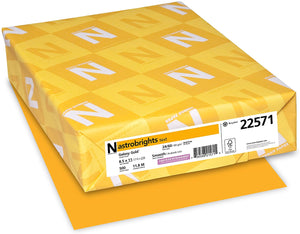 Neenah Astrobrights Premium Color Paper, 24 lb, 8.5 x 11 Inches, 500 Sheets, Galaxy Gold (22571)