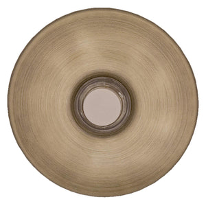 NICOR Lighting Prime Chime Lighted Stucco Button in Antique Brass (ECSBAB)