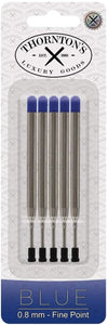 Thornton's Luxury Goods Ballpoint Pen Refill to Fit Parker Style Ballpoint Pens, 1.0mm, Medium Point, Black Ink, 5-Count