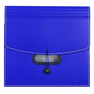 C-Line 13-Pocket Letter Size Ladder Expanding File, Blue (48015)