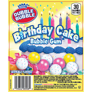 Product of Dubble Bubble Birthday Cake Gumballs (850 ct.) - Dress Up Accessories [Bulk Savings]