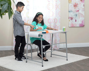 SD Studio Designs Project Center, 55128 Craft Table Play Desk with Bench, Gray