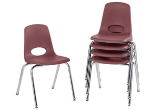 "18"" Stack Chair, Burgundy (5-pack)"