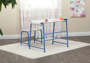 SD Studio Designs Project Center, 55126 Craft Table Play Desk with Bench, Blue/Gray