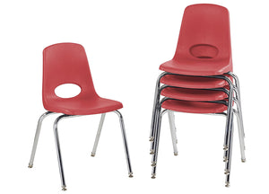 "18"" Stack Chairs, Red (5-pack)"