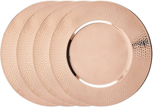 "Old Dutch International OS5866 Old Dutch Hammered Copper, 16"", Set of 4 Charger Plates,"