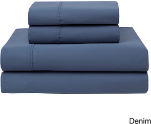 Elite Home Products Inc Wrinkle Free 420 Thread Count Cotton Sheet Set