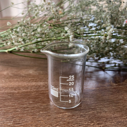 25ml Glass Cylindrical Beaker