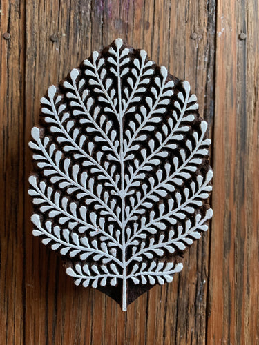 Medium Wooden Fern Printing Block