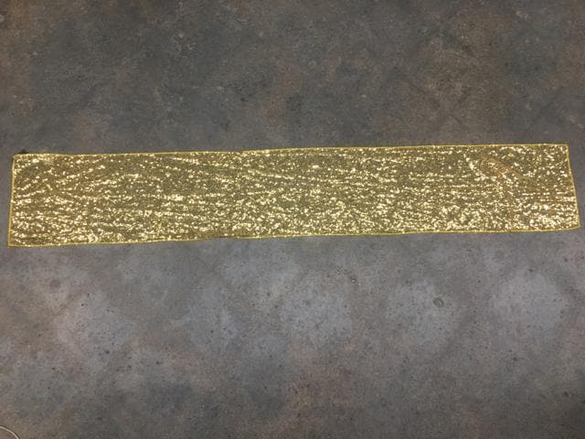 "Table Runner Sequin Gold Size 72""x12"" TABLE LINENS"