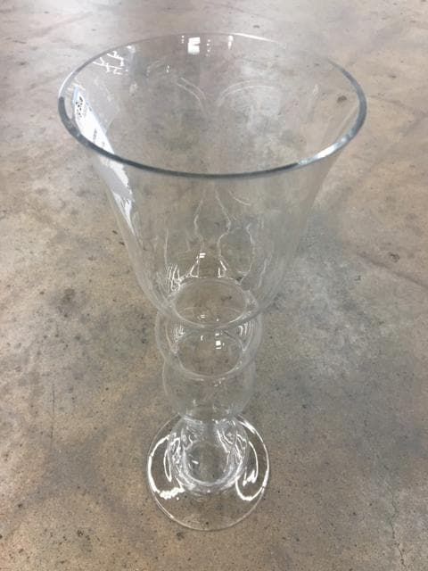 "15"" Clear Elements Glass Hurricane"