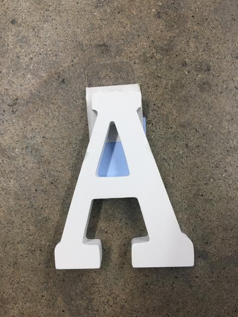 "4.5"" White Wood ""A"" Sign"