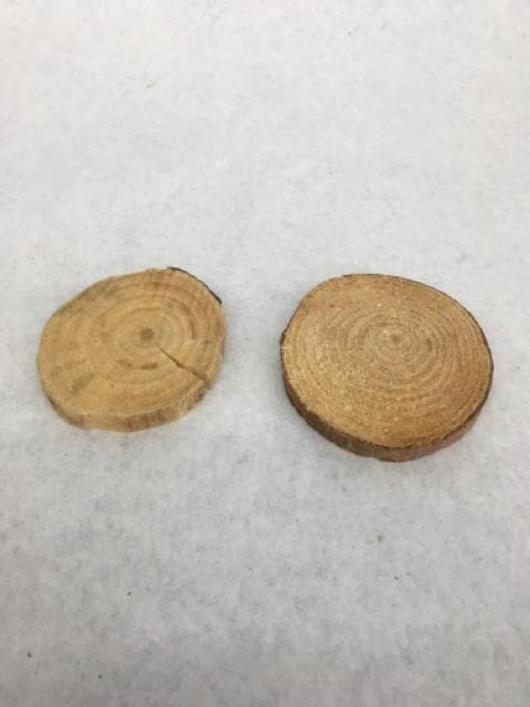 Mini Brown Wood Cookie