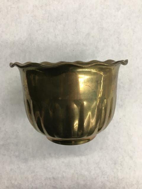 "Bowl Brass Gold 6"" Wide"