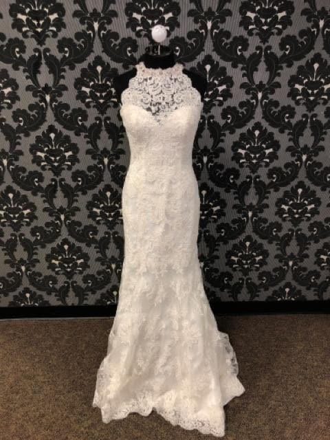 Kenneth Winston KYLIE 1580 Women's Wedding Dress Lace Ivory Size 10