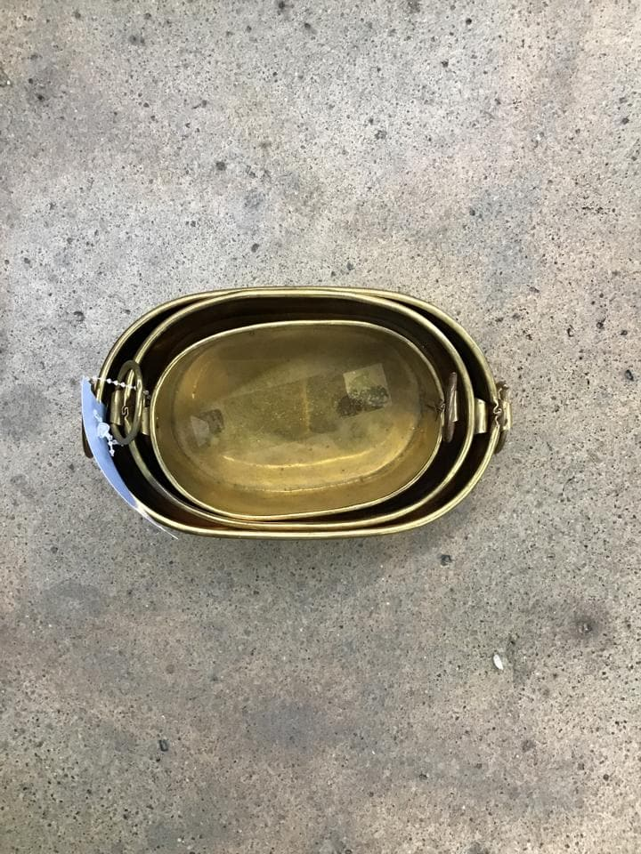 Size 3pc Bucket Brass Brass CONTAINER