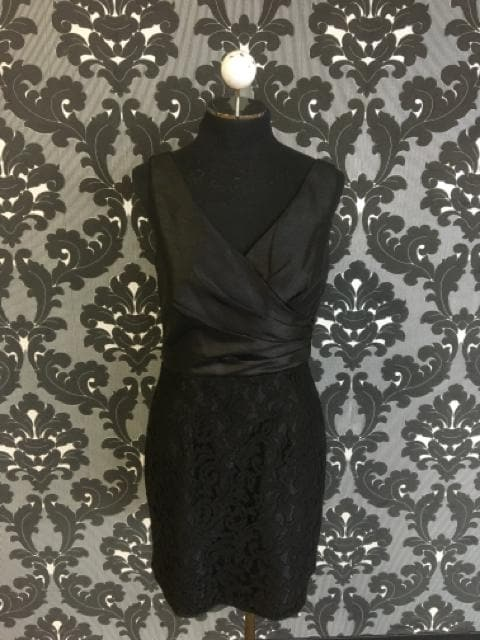 Size 8 Black Jasmine Polyester Cocktail Sleeveless