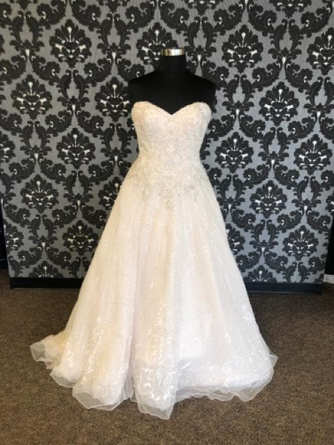 Kenneth Winston KIMBERLY 1725 Women's Wedding Dress Beaded/Tulle Size 16