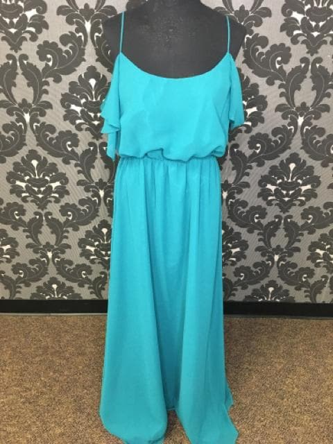 Size 10 Teal Wtoo Polyester Floor Cold Shoulder