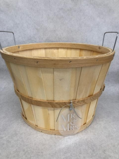 "Apple Basket Wood Beige Size 13.25""x9"" CONTAINER"
