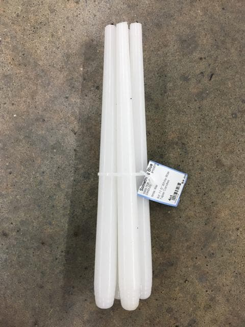 "4ct 11.5"" White Wax Taper Candles"