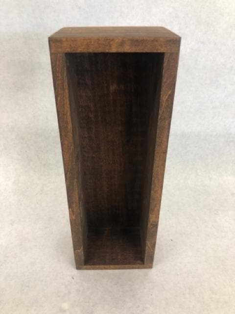 "Dark Stain 11.5"" x 4"" x 3"" Wood Rectangle Box"