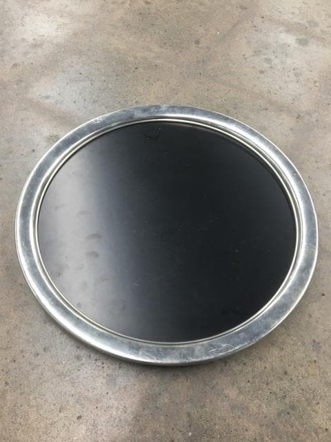 "15.5"" Royal Holland Pewter & Wood Tray"