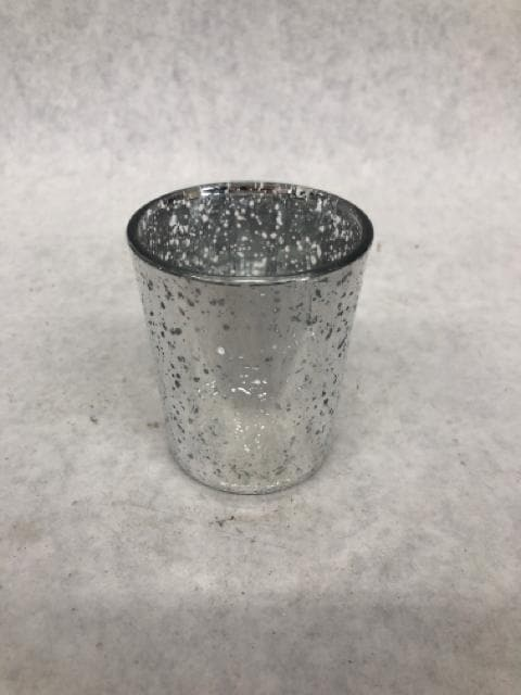 "Votive Holder Mercury Glass Silver Size 2.5"" CANDLES"