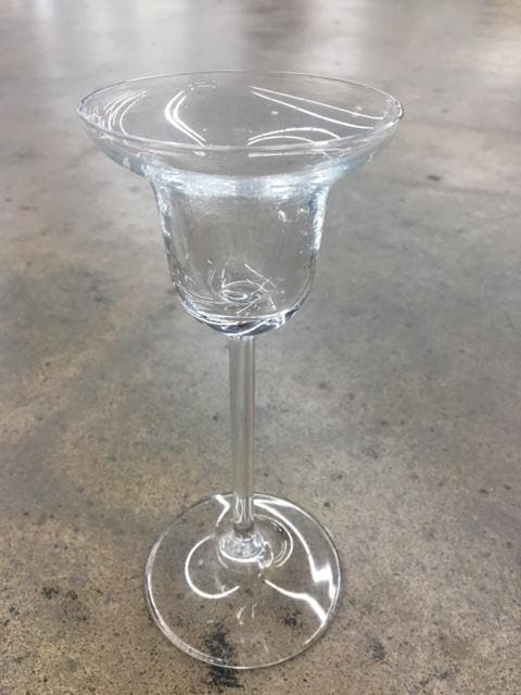 "6"" Clear Glass Studio Nova Candleholder"