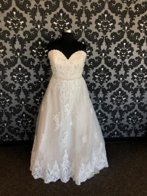 Ella Rose BEATRICE BE421 Women's Wedding Dress Lace Sand/Ivory Size 26