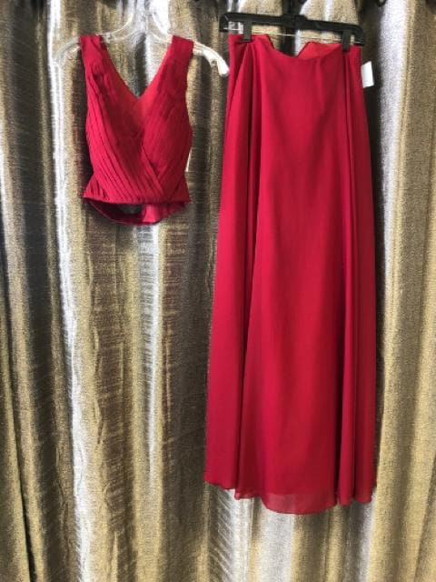 Dream Dressy Women's Prom Dress Chiffon Burgundy Size 00 V-Neck