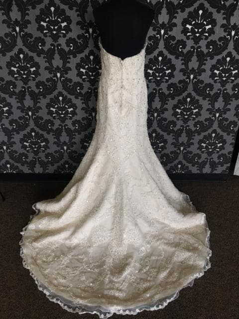 Fiore Couture Amanda Wedding Dress Lace Ivory Size 12 Strapless