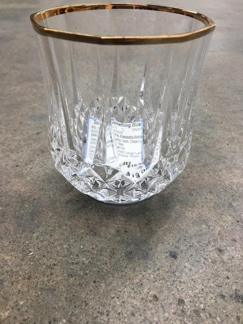 CRISTAL D'ARQUES-DURAND Glassware Glass Clear/Gold Size 2ct GLASSWARE
